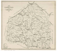 Lunenburg County Virginia 1871 - Old Map Reprint