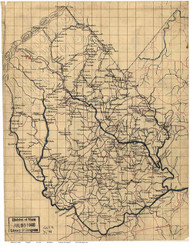 Madison County Virginia ca 1860 - Old Map Reprint