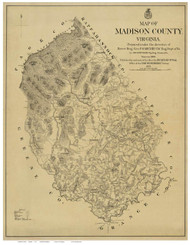 Madison County Virginia 1875 - Old Map Reprint