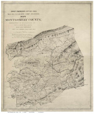 Montgomery County Virginia 1864 - Dwight - Old Map Reprint
