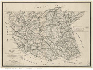 Nottoway County Virginia 1864 - Old Map Reprint