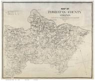Powhatan County Virginia 1864 - Old Map Reprint