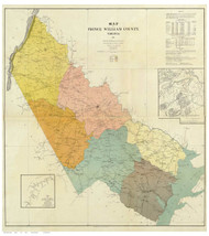 Prince William County Virginia 1901 - Old Map Reprint