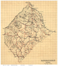 Rappahannock County Virginia 1863 - Old Map Reprint