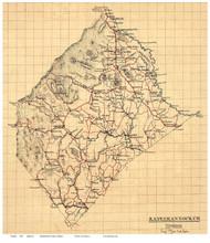 Rappahannock County Virginia 1863 - Old Map Reprint