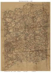 Spotsylvania County Virginia ca 1860 - Old Map Reprint