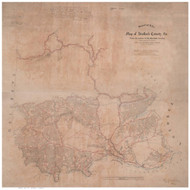 Stafford County Virginia 1863 - Old Map Reprint
