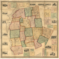 Addison County Vermont 1857 - Old Map Reprint