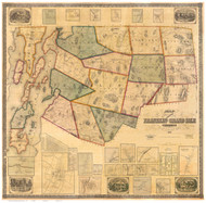 Franklin & Grand Isle County Vermont 1857 - Old Map Reprint