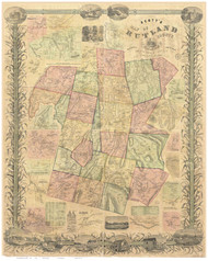 Rutland County Vermont 1854 - Old Map Reprint