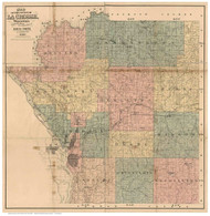La Crosse County Wisconsin 1890 - Old Map Reprint