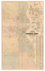 Milwaukee County Wisconsin 1893 - Old Map Reprint