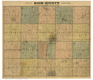 Rock County Wisconsin 1900 - Old Map Reprint