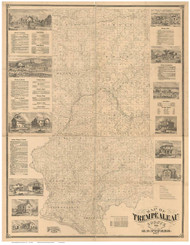 Trempealeau County Wisconsin 1877 - Old Map Reprint