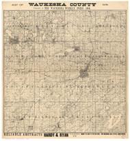 Waukesha County Wisconsin 1900 - Old Map Reprint
