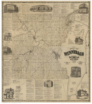 Winnebago County Wisconsin 1873 - Old Map Reprint