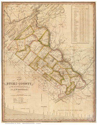 Bucks County Pennsylvania 1831 - Old Map Reprint