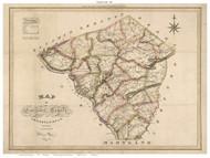 Lancaster County Pennsylvania 1821 - Old Map Reprint