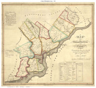 Philadelphia County Pennsylvania 1819 - Old Map Reprint