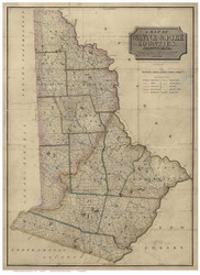 Wayne & Pike County Pennsylvania 1814 - Old Map Reprint
