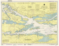 Ironsides Island to Bingham Island 1975 St Lawrence River Nautical Chart Reprint 115 NY/Ontario