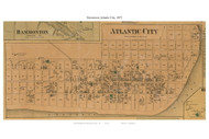 Atlantic City (Downtown), New Jersey 1872 Old Town Map Custom Print - Atlantic Co.