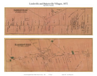 Leedsville and Bakersville Villages - Egg Harbor Township, New Jersey 1872 Old Town Map Custom Print - Atlantic Co.