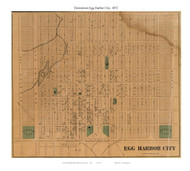 Egg Harbor City (Downtown), New Jersey 1872 Old Town Map Custom Print - Atlantic Co.