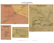 Conoverville, Port Republic, Smithville, and Leeds Point Villages - Galloway Township, New Jersey 1872 Old Town Map Custom Print - Atlantic Co.