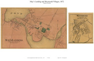 May's Landing and Weymouth Villages - Hamilton Township, New Jersey 1872 Old Town Map Custom Print - Atlantic Co.