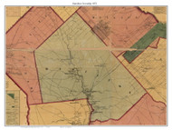 Hamilton Township, New Jersey 1872 Old Town Map Custom Print - Atlantic Co.