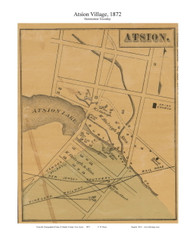Atsion Village - Hamilton Township, New Jersey 1872 Old Town Map Custom Print - Atlantic Co.