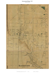 Hammontown Village, New Jersey 1872 Old Town Map Custom Print - Atlantic Co.