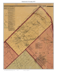 Hammonton Township, New Jersey 1872 Old Town Map Custom Print - Atlantic Co.