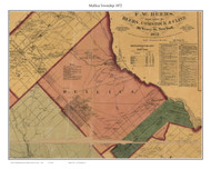 Mullica Township, New Jersey 1872 Old Town Map Custom Print - Atlantic Co.