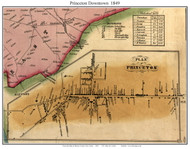 Princeton (Downtown), New Jersey 1849 Old Town Map Custom Print - Mercer Co.