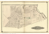 Chambersburg - Hamilton Township, New Jersey 1875 Old Town Map Reprint - Mercer Co.