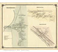Pennington, Titusville, and Hopewell Villages - Hopewell Township, New Jersey 1875 Old Town Map Reprint - Mercer Co.