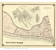 2nd Ward & Millham Village - Trenton, New Jersey 1875 Old Town Map Reprint - Mercer Co.