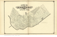 7th Ward - Trenton, New Jersey 1875 Old Town Map Reprint - Mercer Co.