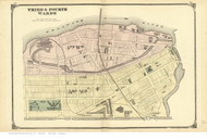 3rd & 4th Wards - Trenton, New Jersey 1875 Old Town Map Reprint - Mercer Co.
