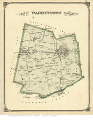 Washington Township, New Jersey 1875 Old Town Map Reprint - Mercer Co.