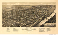 Albany, Georgia 1885 Bird's Eye View - Old Map Reprint