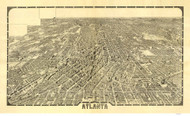Atlanta, Georgia 1919 Bird's Eye View - Old Map Reprint