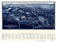 Chickamauga, Georgia 1913 Bird's Eye View - Old Map Reprint