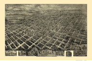 Cordele, Georgia 1908 Bird's Eye View - Old Map Reprint