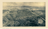 Macon, Georgia 1912 Bird's Eye View - Old Map Reprint