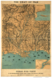 Mississippi Valley, Georgia 1861 Bird's Eye View - Old Map Reprint