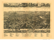 Tallapoosa, Georgia 1892 Bird's Eye View - Old Map Reprint