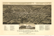 Thomasville, Georgia 1885 Bird's Eye View - Old Map Reprint